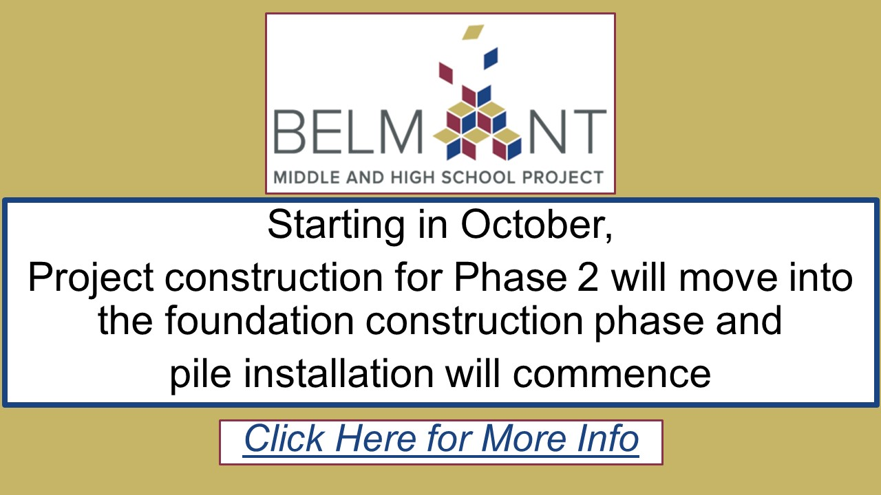 Belmont Middle and High School Pile Installation 2021