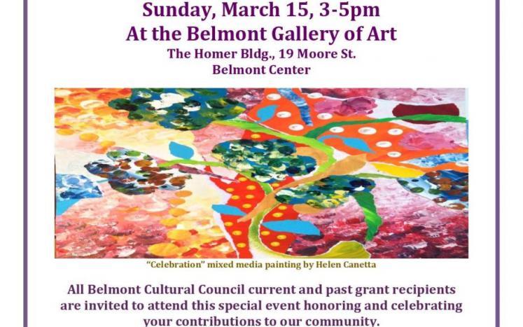 Belmont Cultural Council Celebration for Grant Recipients