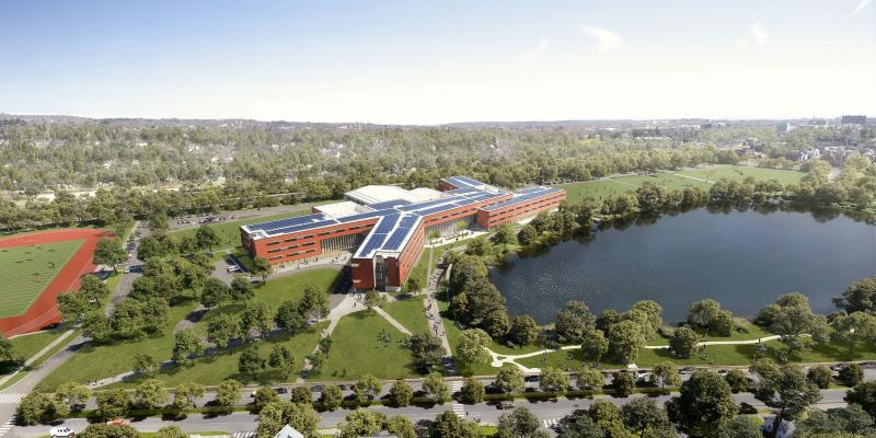 Aerial View of the New Middle and High School