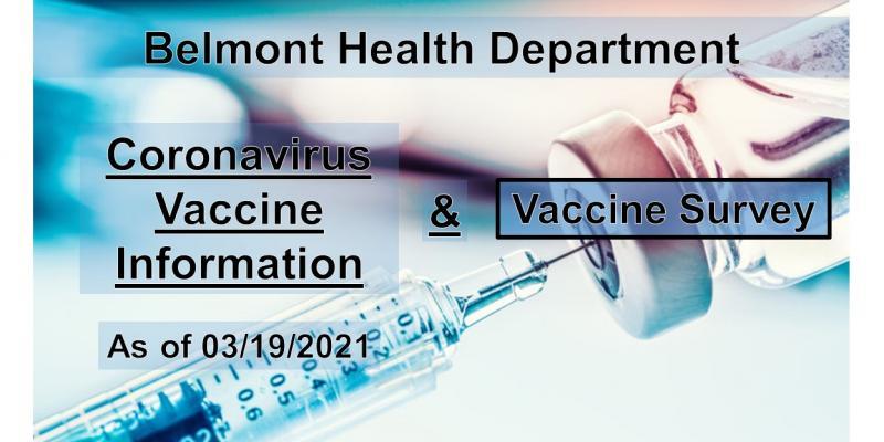 Belmont Health Department - Coronavirus Vaccine Information and Survey